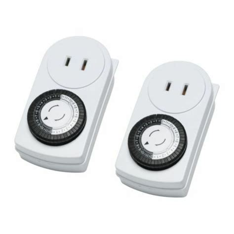 ikea 2 timer wall outlet 24 hours indoor light l ungrounded tanda ebay