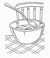 Coloring Soup Bowl Chicken Warms American Template Sketch Library Clipart Clip sketch template