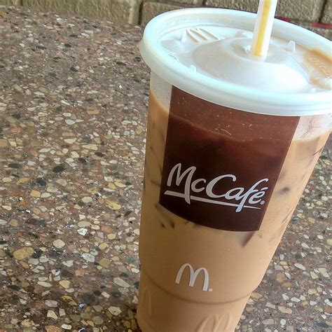 Hamburgers, cheeseburgers, chicken burgers, chicken, french. McCafe XL Iced Caramel mocha with extra espresso - Yelp