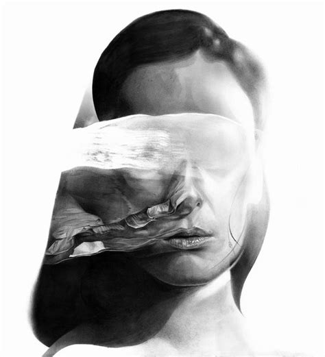 Abstract Black And White Portrait by Blurred Abstract Portraits Artist