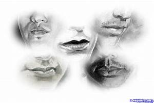 How to Draw Realistic Lips, Sketch Lips, Step by Step ...