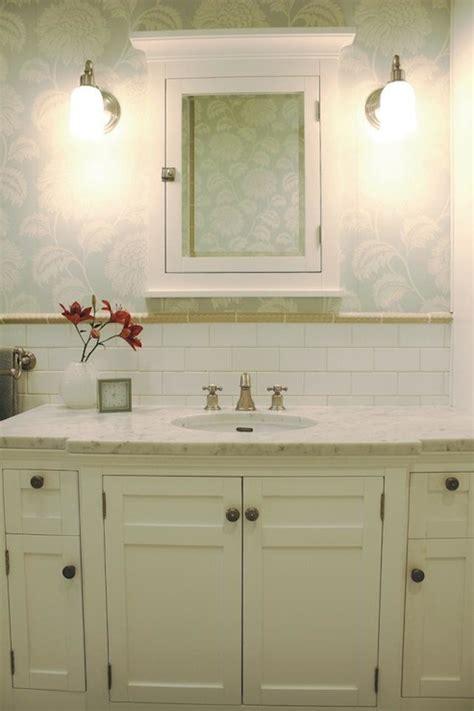 white medicine cabinet country bathroom svz interior