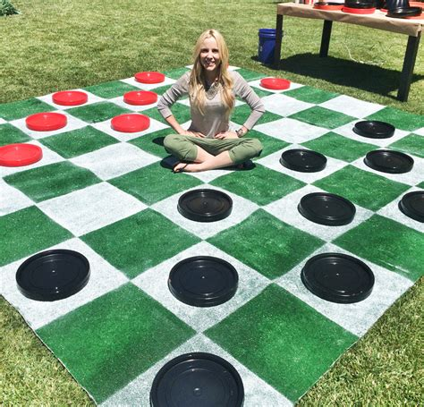 for checkers these diy lawn games are perfect for outdoor entertaining