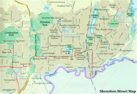 Shenzhen Street Map, Shenzhen Road Map, Shenzhen Districts