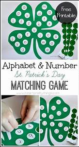 alphabet and number st patrick39s day matching patrick o With letters and numbers game