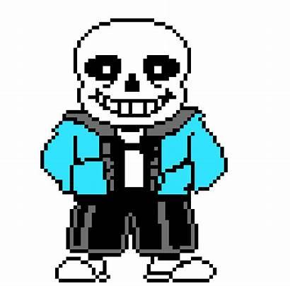 Sans Skeleton Undertale Sprite Colored Pixel Clipart