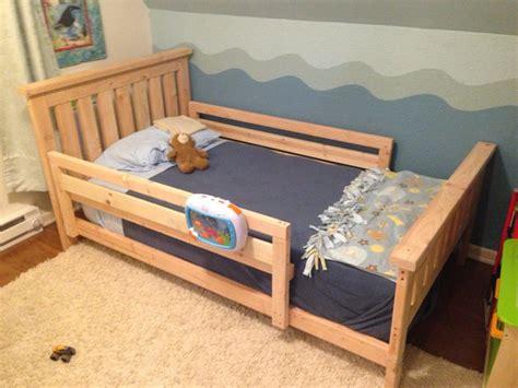 diy  bed frame bed rails  toddlers kids bed