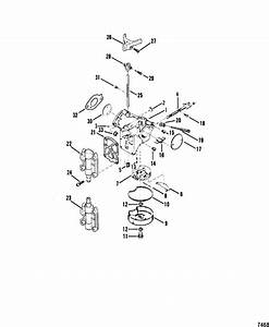 Mercury Marine 45 Hp  4 Cylinder  Carburetor Assembly Parts