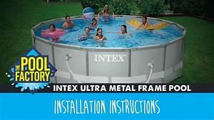 Intex Ultra Metal Frame Pool Instructions
