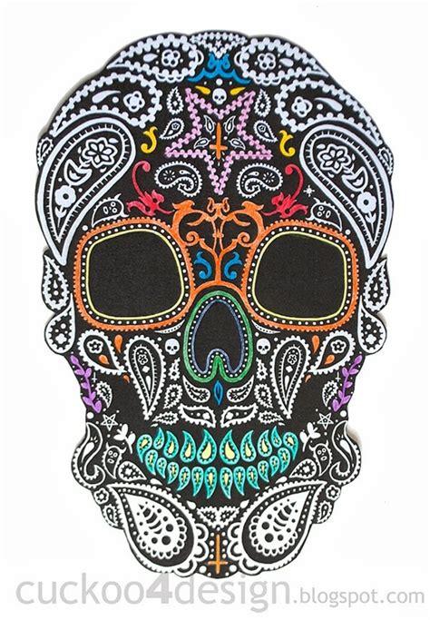 diy halloween mexican skull wall art cuckoodesign