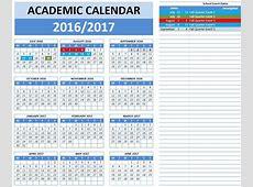 Blank Academic Calendar 2016 2017 Calendar Template 2018