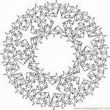 Kaleidoscope Coloring Mandala Ausmalbilder Kleurplaten Colorir Malvorlagen Printable Adults Lrg Template Paginas Geometric Natal Tekenen Zum Simple Ausdrucken Pattern Guardado sketch template