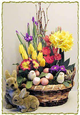 Bright Spring Easter Flower Arrangement