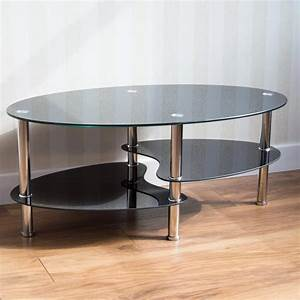 cara coffee table with storage With black glass coffee table with storage