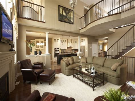 Home elegant furniture, model home living room decorating