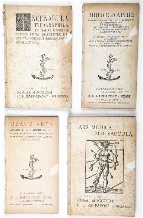 libreria medica roma rappaport libreria antiquaria roma lotto di 32 numeri de