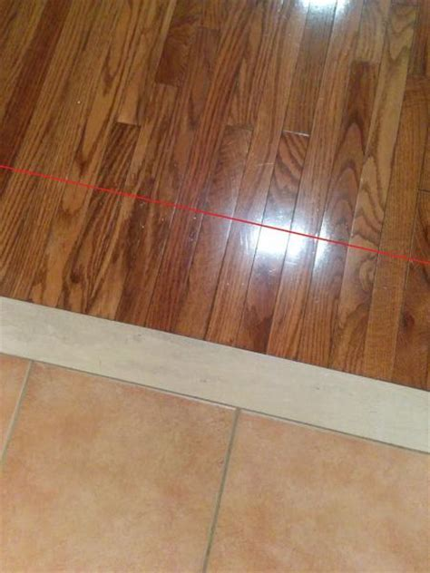 Cutting installed hardwood in a straight line