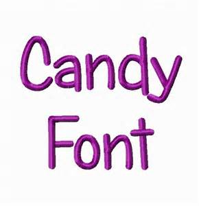 Candy Machine Embroidery Font