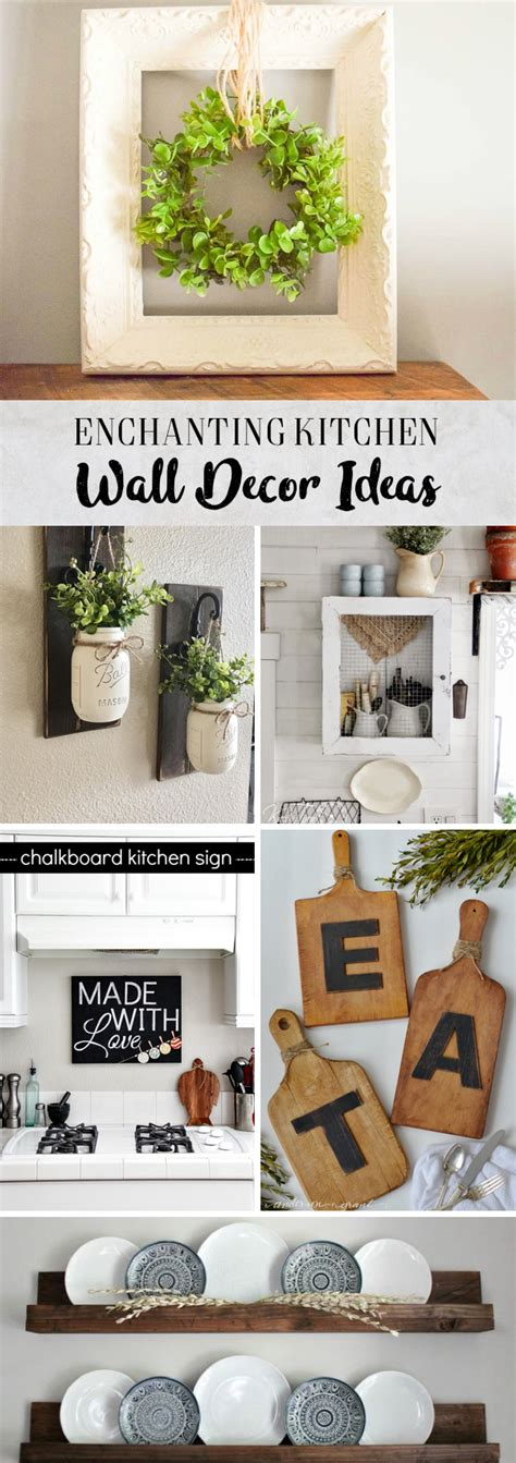 Decorating Ideas Kitchen Walls by 30 Enchanting Kitchen Wall Decor Ideas That Are Oozing