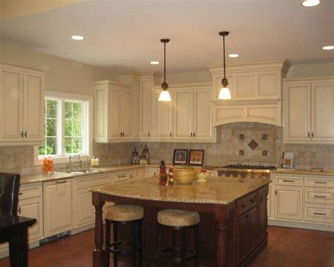 bright wood kitchen  island traditional home