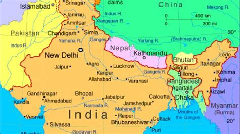 Bangladesh India Map