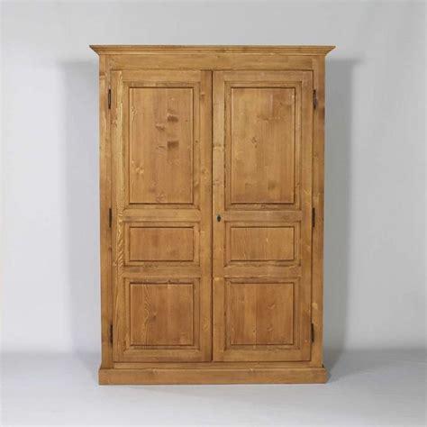 armoire bois massif cir 233 miel 2 portes 1 penderie armoires