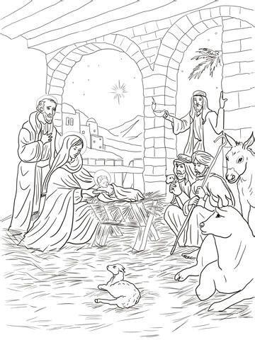 shepherds    baby jesus coloring page  printable coloring pages jesus coloring