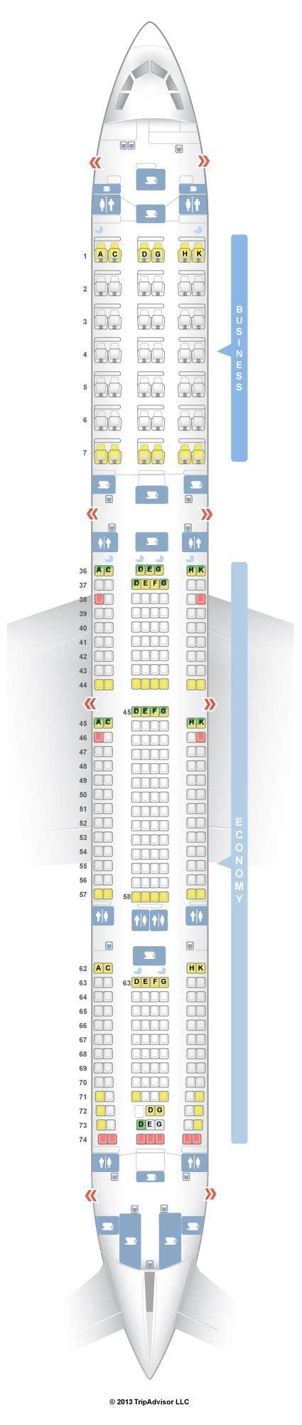 SeatGuru Seat Map South African Airways Airbus A340 600 (346)