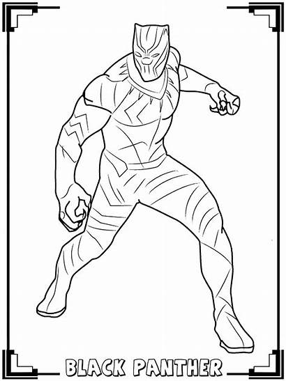 Panther Coloring Pages Children