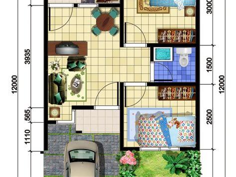contoh denah rumah minimalis modern  elegan renovasi