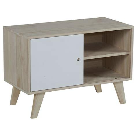 meuble tv bois blanc petit prix