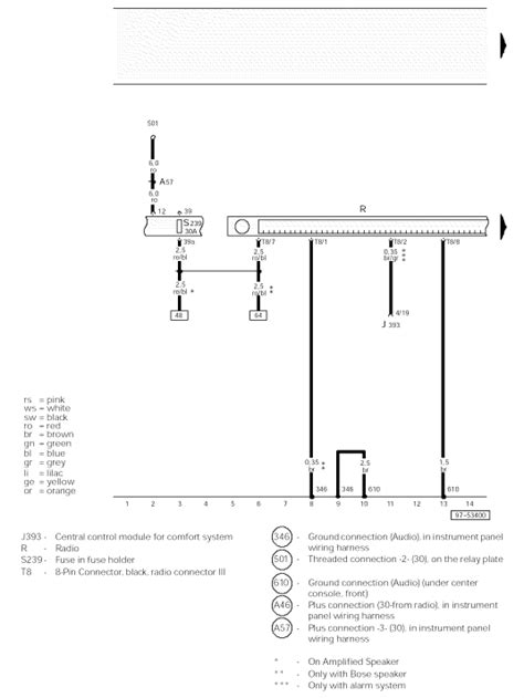 looking for a correct raido wiring diagram for a 2002 audi
