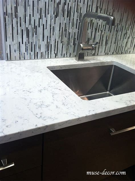 tiled kitchen countertop lyra quartz countertops by silestone counters 2784