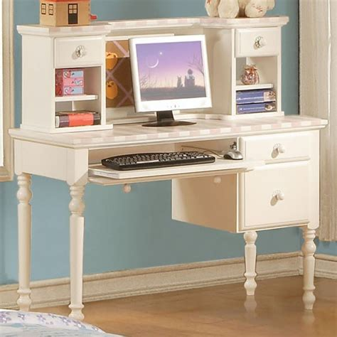 white student desk with hutch acme furniture zoe white student computer desk with