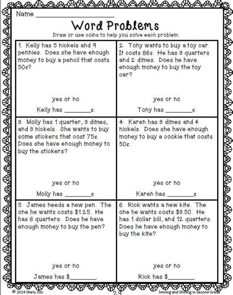 counting money madness math words math word problems 2nd grade math