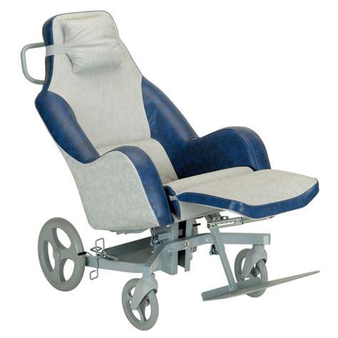 siège coquille elysée pvc bleu sur châssis roulant vhp