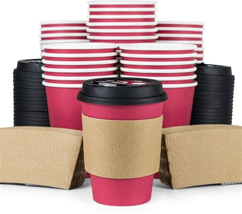 Need sip lids for takeaway cups? Red Coffee Cups with Lids (110 pieces) | Cold Brew Makers