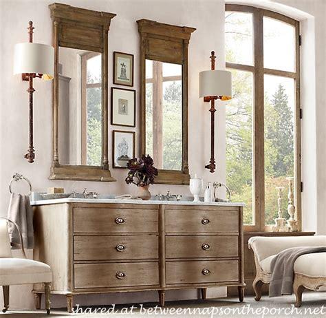 restoration hardware vanity restoration hardware inspired bathroom renovation