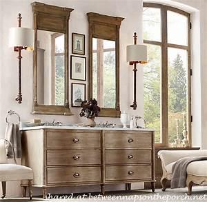 restoration hardware inspired bathroom renovation With bathroom vanities like restoration hardware