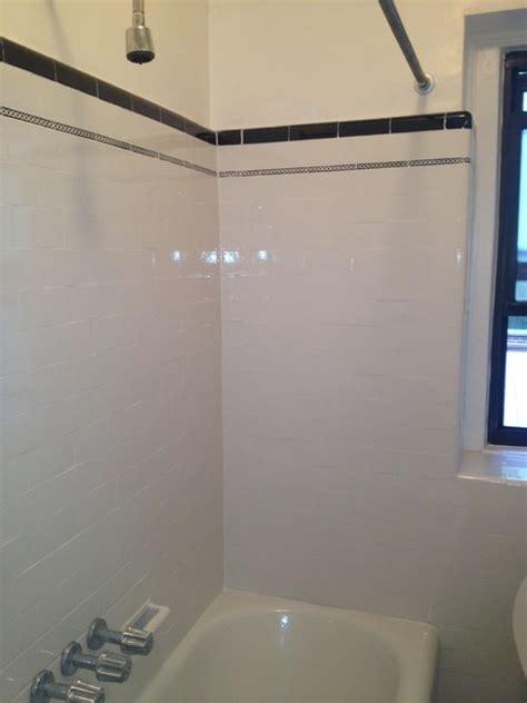 tub  wall tile reglazingrefinishing masking trim