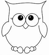 Coloring Owl Cartoon sketch template