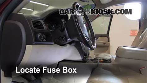 interior fuse box location   gmc yukon  gmc