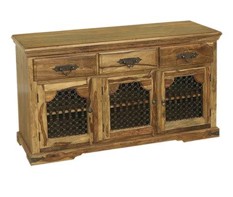 Indian Wood Sideboard by Bali Sheesham Indian Wood Furniture 3 Door Sideboard Cabinet