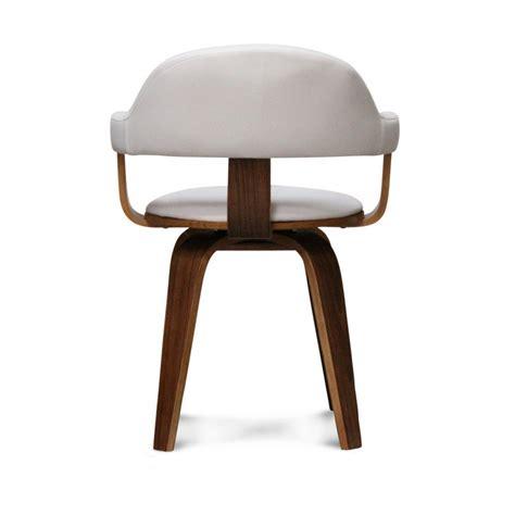 chaise pivotante design blanche mooviin