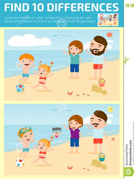 find differences for find differences brain 173 | find differences game kids find differences brain games children game educational game preschool children vector illus 79288730