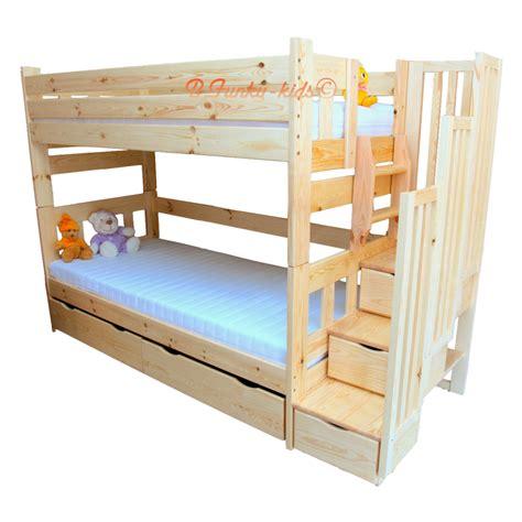 lit superpos 233 avec escalier rangement enrique 200x90 cm