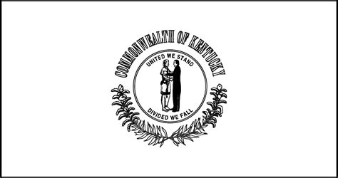 Kentucky State Flag Coloring Page Best Image Of Coloring