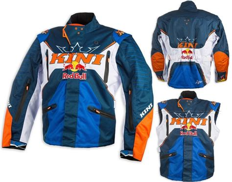 Giacca Jacket Cross Enduro Kini Red Bull Competition Navy