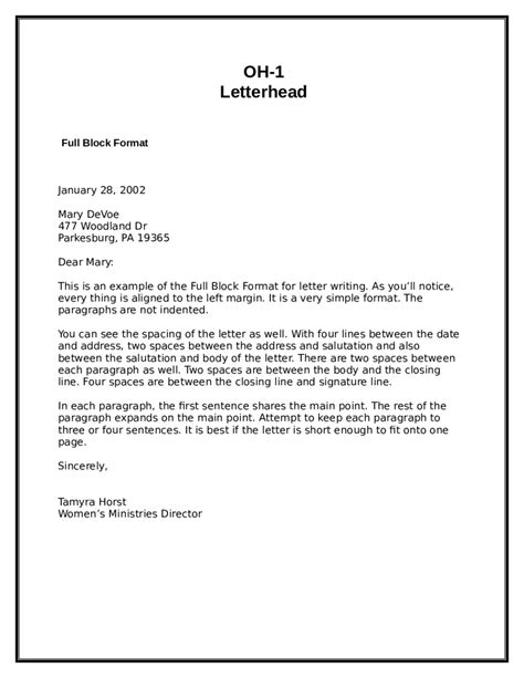 business letter in block style exle 28 images business