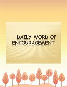 Daily Sales Template Daily Word Of Encouragement Book 168611 Bookemon